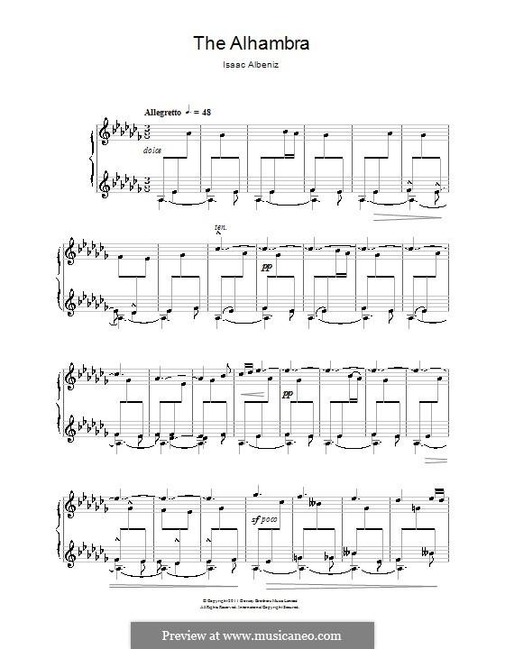 The Alhambra: Para Piano by Isaac Albéniz