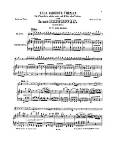 Ten Themes with Variations for Flute (or Violin) and Piano, Op.107: livros IV by Ludwig van Beethoven