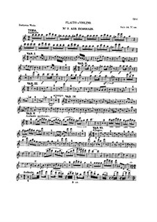 Ten Themes with Variations for Flute (or Violin) and Piano, Op.107: Book IV – solo part by Ludwig van Beethoven