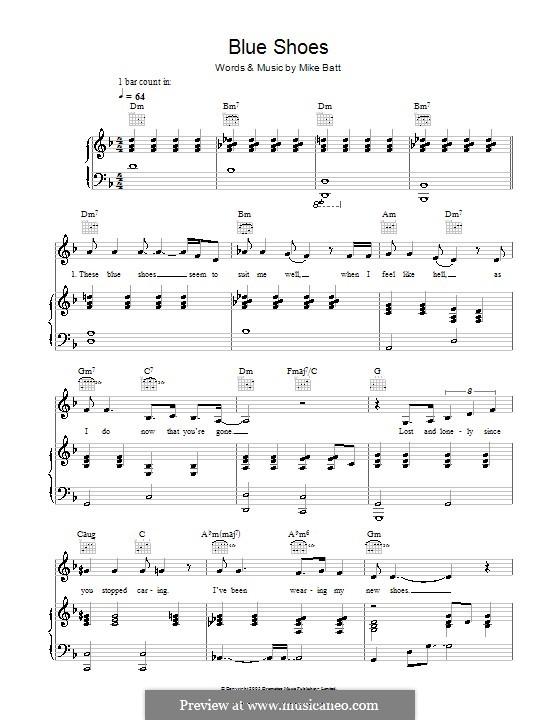 Blue Shoes (Katie Melua): Para vocais e piano (ou Guitarra) by Mike Batt