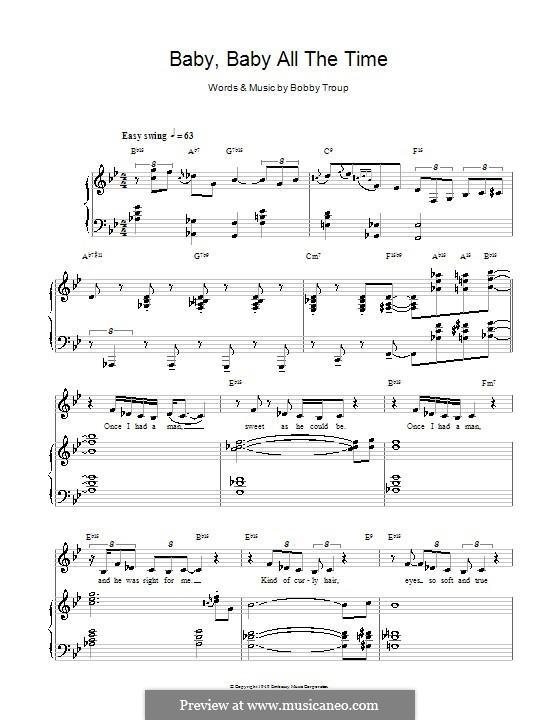 Baby Baby All the Time (Diana Krall): Para vocais e piano (ou Guitarra) by Bobby Troup