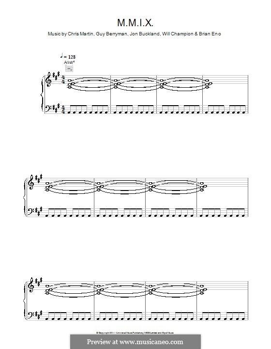 M.M.I.X. (Coldplay): Para vocais e piano (ou Guitarra) by Brian Eno, Chris Martin, Guy Berryman, Jonny Buckland, Will Champion