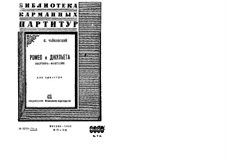 Complete Overture: partitura completa by Pyotr Tchaikovsky