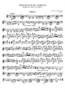 Turkish March: violino parte I by Ludwig van Beethoven