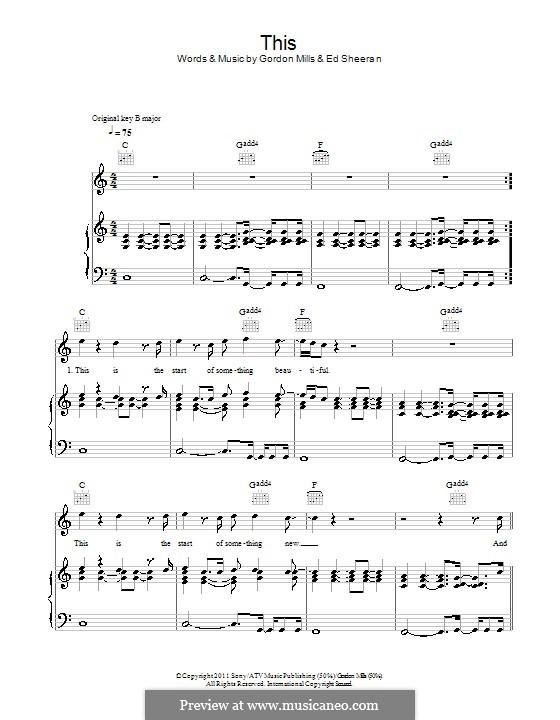 This: Para vocais e piano (ou Guitarra) by Ed Sheeran, Gordon Mills