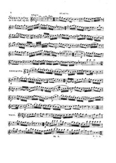 Serenade for Cello (or Flute) and Guitar, Op.84: parte flauta by Leonhard von Call