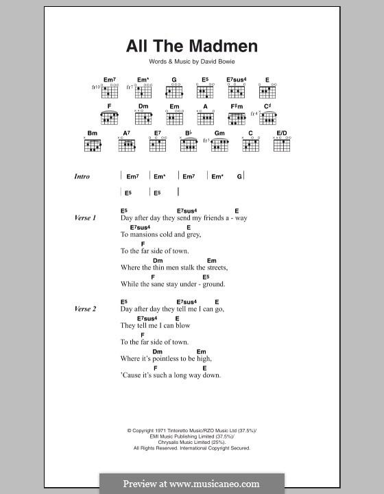 All the Madmen: Letras e Acordes by David Bowie