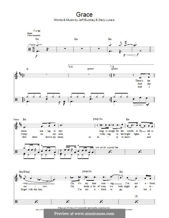 Grace: para bateria by Gary Lucas, Jeff Buckley