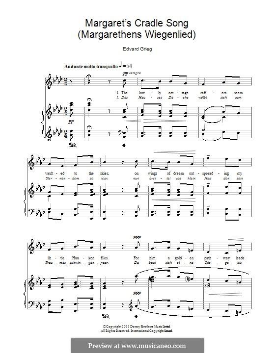 Four Romances, Op.15: No.1 Margaret's Cradle Song by Edvard Grieg