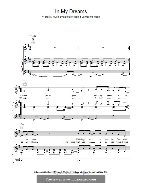 In My Dreams: Para vocais e piano (ou Guitarra) by Daniel Wilson, James Morrison