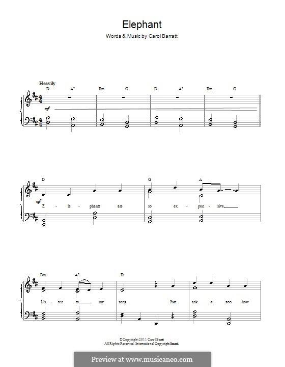 Elephant: Para vocais e piano by Carol Barratt