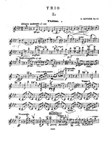 Piano Trio in F Minor, Op.14: parte do violino by Georgy Catoire