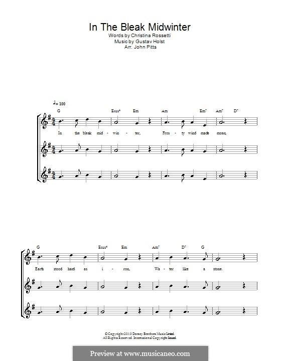 In the Bleak Midwinter: para gravar by Gustav Holst
