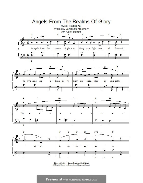 Angels from the Realms of Glory: Para vocais e piano by folklore