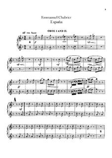 España: parte oboes by Emmanuel Chabrier