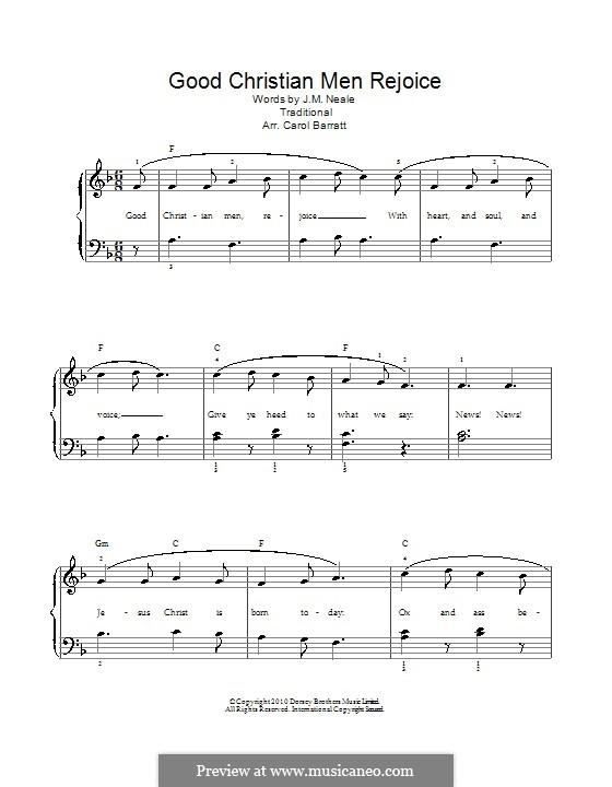 Good Christian Men, Rejoice: Para vocais e piano by folklore