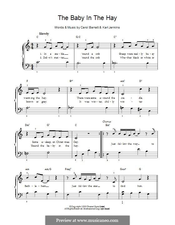 The Baby in the Hay: Para vocais e piano by Carol Barratt, Karl Jenkins