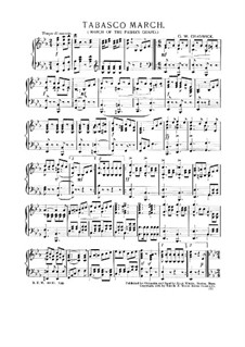 Tabasco: March, for piano by George Whitefield Chadwick