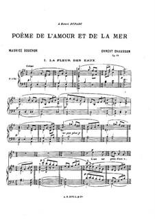 Poème de l'amour et de la mer, Op.19: Partitura piano-vocal by Ernest Chausson