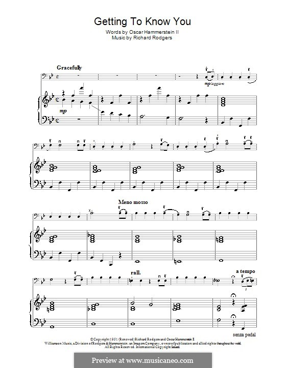 Getting to Know You (from The King and I): para Violoncelo e piano by Richard Rodgers