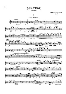 String Quartet in C Minor, Op.35: Partes by Ernest Chausson