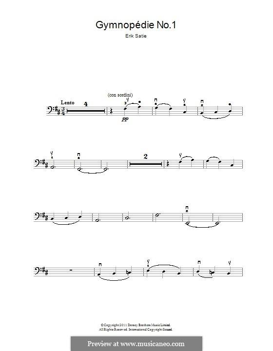 No.1: para violoncelo by Erik Satie