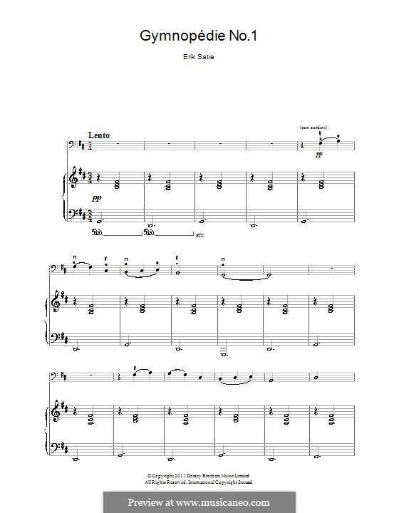 No.1: para Violoncelo e piano by Erik Satie