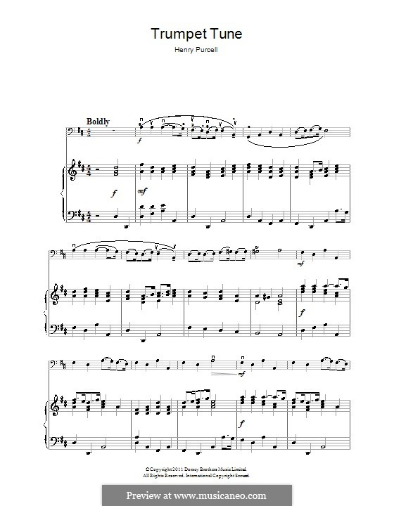 Trumpet tune and Air: para violoncelo by Henry Purcell