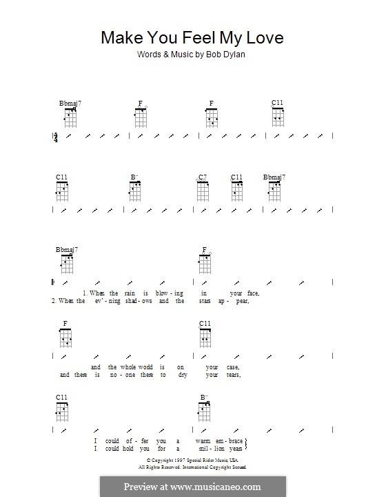 Make You Feel My Love: para ukulele com dedilhado by Bob Dylan