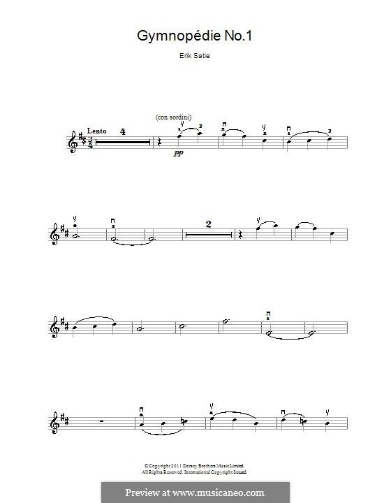 No.1: para violino by Erik Satie