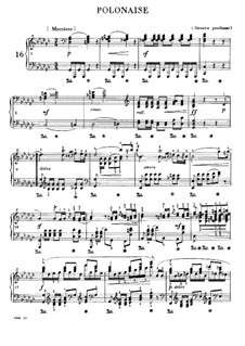 Polonaise in G Flat Major, B.36 KK IVa/8: Para Piano by Frédéric Chopin