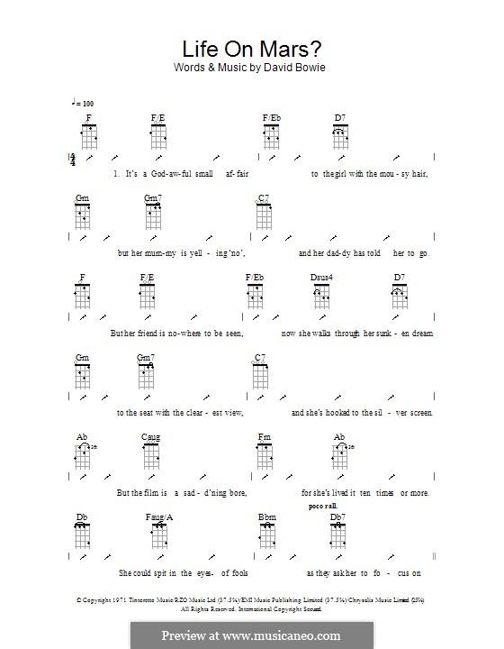 Life on Mars?: para ukulele com dedilhado by David Bowie