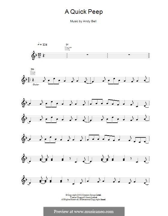 A Quick Peep (Oasis): melodía,letras e acordes by Andy Bell