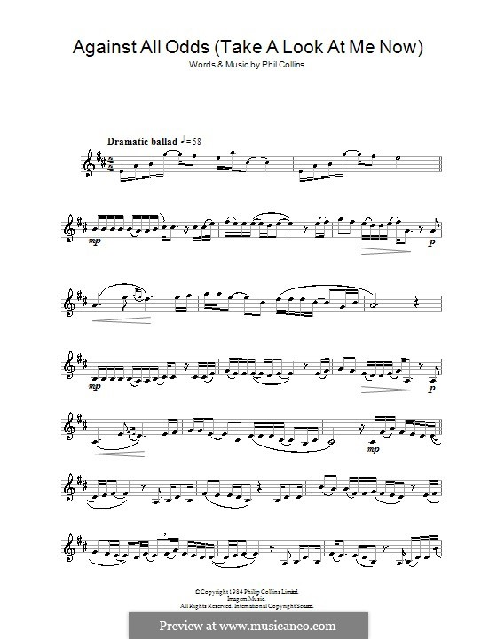 Against All Odds (Take a Look at Me Now): para clarinete by Phil Collins