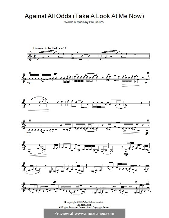 Against All Odds (Take a Look at Me Now): para violino by Phil Collins