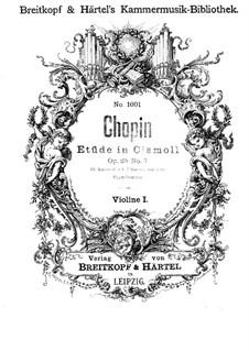 No.7 in C Sharp Minor: Arrangement for string quartet – violin I part by Frédéric Chopin