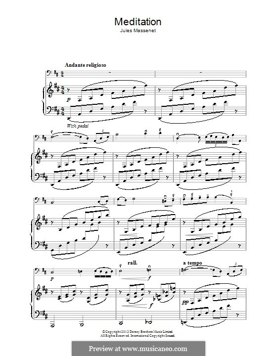Meditation: para violoncelo by Jules Massenet