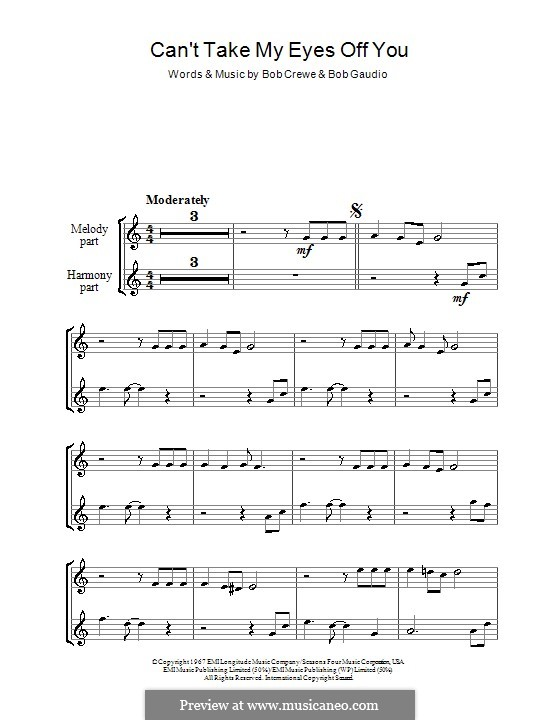 Can't Take My Eyes Off of You (Frankie Valli & The Four Seasons): para gravar by Bob Crewe, Bob Gaudio