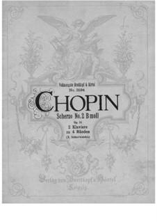 Scherzo No.2 in B Flat Minor, Op.31: dois pianos de quatro mãos by Frédéric Chopin