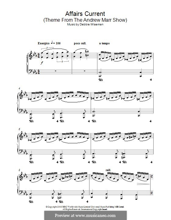 Affairs Current (Theme from The Andrew Marr Show): Para Piano by Debbie Wiseman