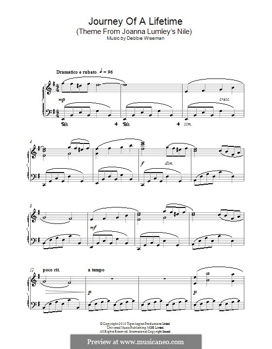 Journey of a Lifetime (Theme from Joanna Lumley's Nile): Para Piano by Debbie Wiseman