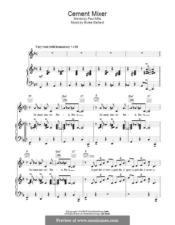 Cement Mixer (Slim Gaillard): Para vocais e piano (ou Guitarra) by Bulee Gaillard