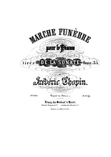 Sonata for Piano No.2 in B Flat Minor, Op.35: movimento III by Frédéric Chopin