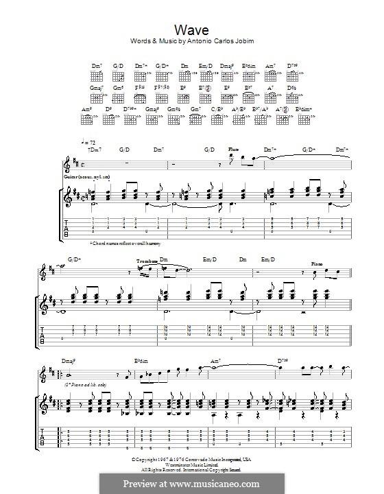 Wave: Para guitarra com guia by Antonio Carlos Jobim
