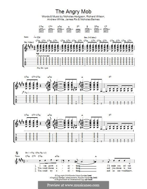 The Angry Mob (Kaiser Chiefs): Para guitarra com guia by Andrew White, James Rix, Nicholas Baines, Nicholas Hodgson, Charles Wilson