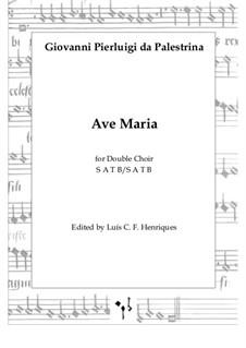 Ave Maria: partitura completa by Giovanni da Palestrina