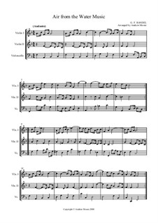 Suite No.1 in F Major – Aria, HWV 348: para trio de cordas by Georg Friedrich Händel