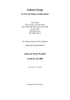 Cabaret Songs: partitura by Mark Warhol