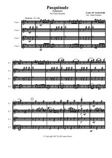 Pasquinade. Caprice, Op.59: para quarteto de flauta by Louis Moreau Gottschalk