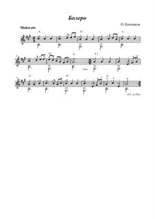 Bolero, Op.16: Para Guitarra by Oleg Kopenkov